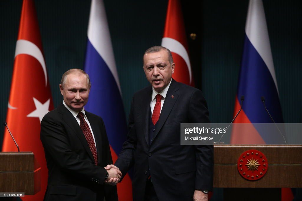 Russian President Vladimir Putin visits Turkey : News Photo