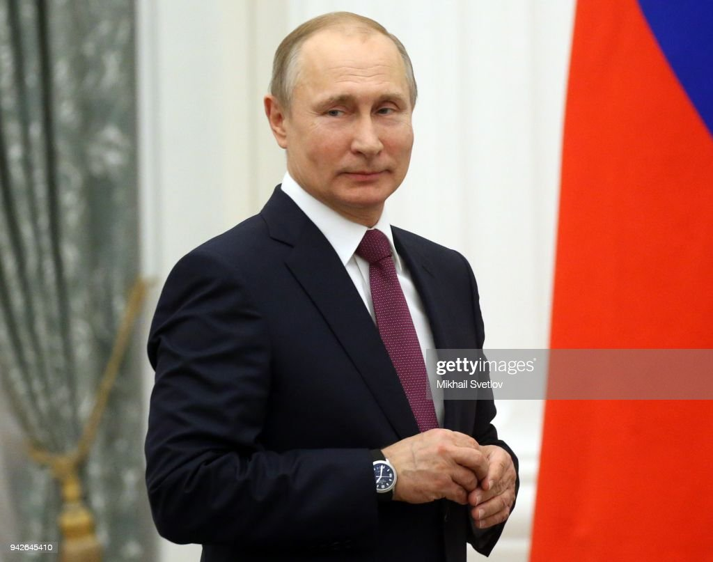 Russian President Vladimir Putin Smiles During An Award Ceremony At News Photo Getty Images