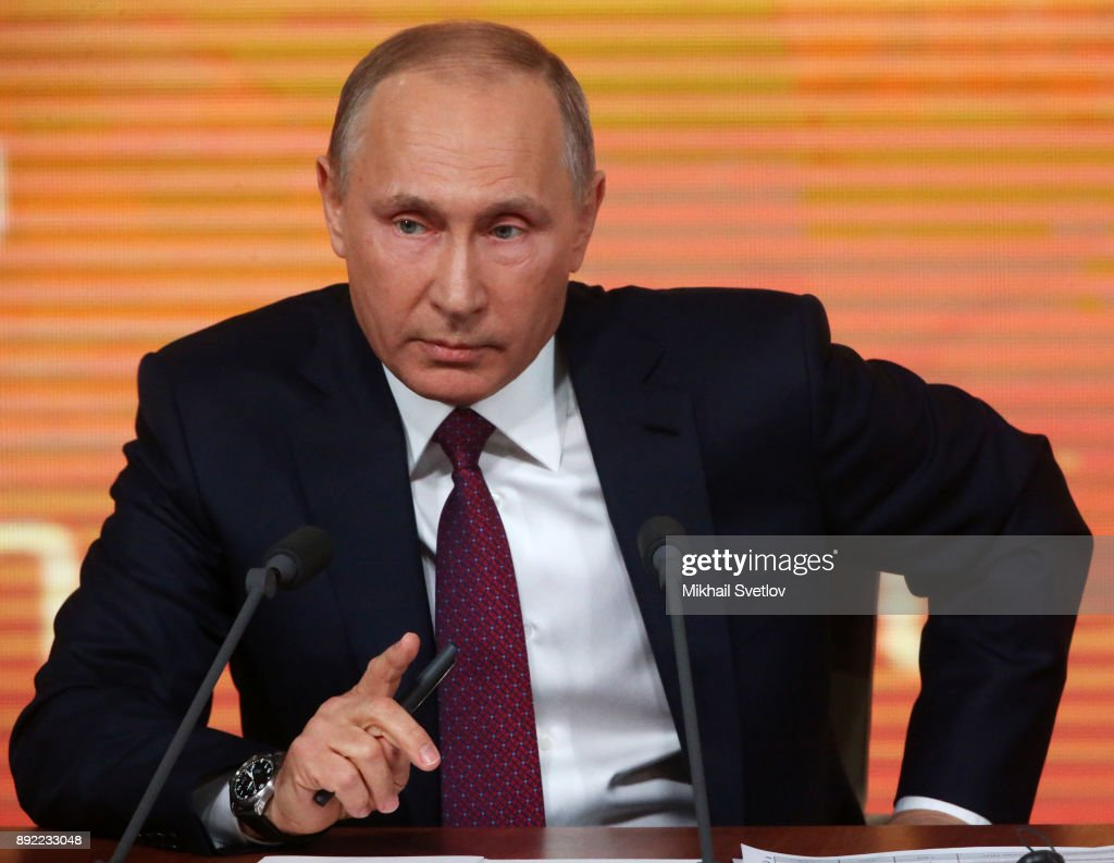 Russian President Vladimir Putin Gives Annual Press Conference