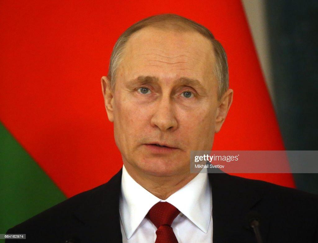 Russian President Vladimir Putin Receives Belarussian President Alexander Lukashenko