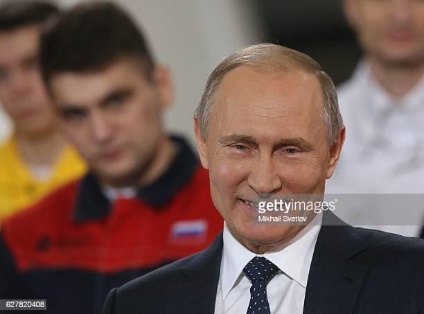Russian President Vladimir Putin speaks during his meeting with workers of Chelyabinsk PipeRolling Plant in Chelyabinsk Russia December 5 2016