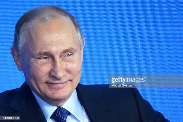 Russian President Vladimir Putin speaks during the Business Russia Congress on October 18 2016 in Moscow Russia