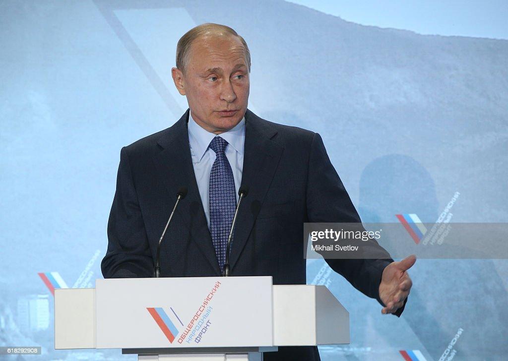 Russian President Vladimir Putin visits Crimea : News Photo