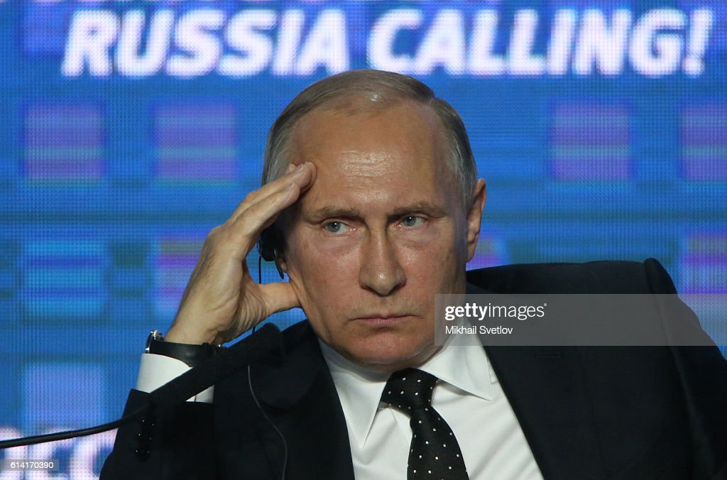 Russian President Vladimir Putin attends the Russia Calling! VTB Capital Investment Forum : News Photo