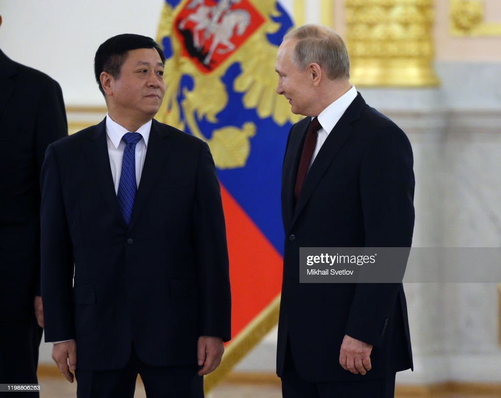Russian President Vladimir Putin Speaks To Chinese Ambassador Zhang News Photo Getty Images