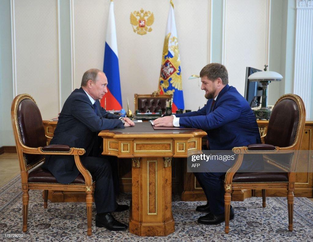 RUSSIA-PUTIN-KADYROV-POLITICS-DIPLOMACY : News Photo