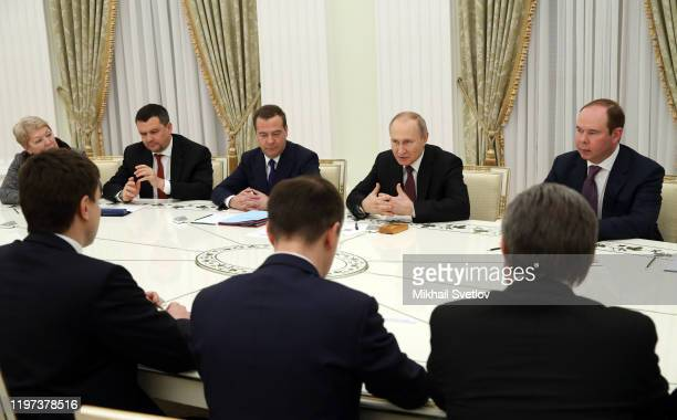 Russian President Vladimir Putin speeches as Deputy Chairman of the Security Council Dmitry Medvedev Presidential Administration's Chief of Staff...