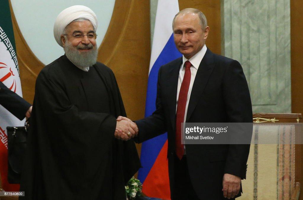 Russian, Turkish And Iranian Presidents Gather In Sochi To Discuss Syrian Conflict : Foto di attualità