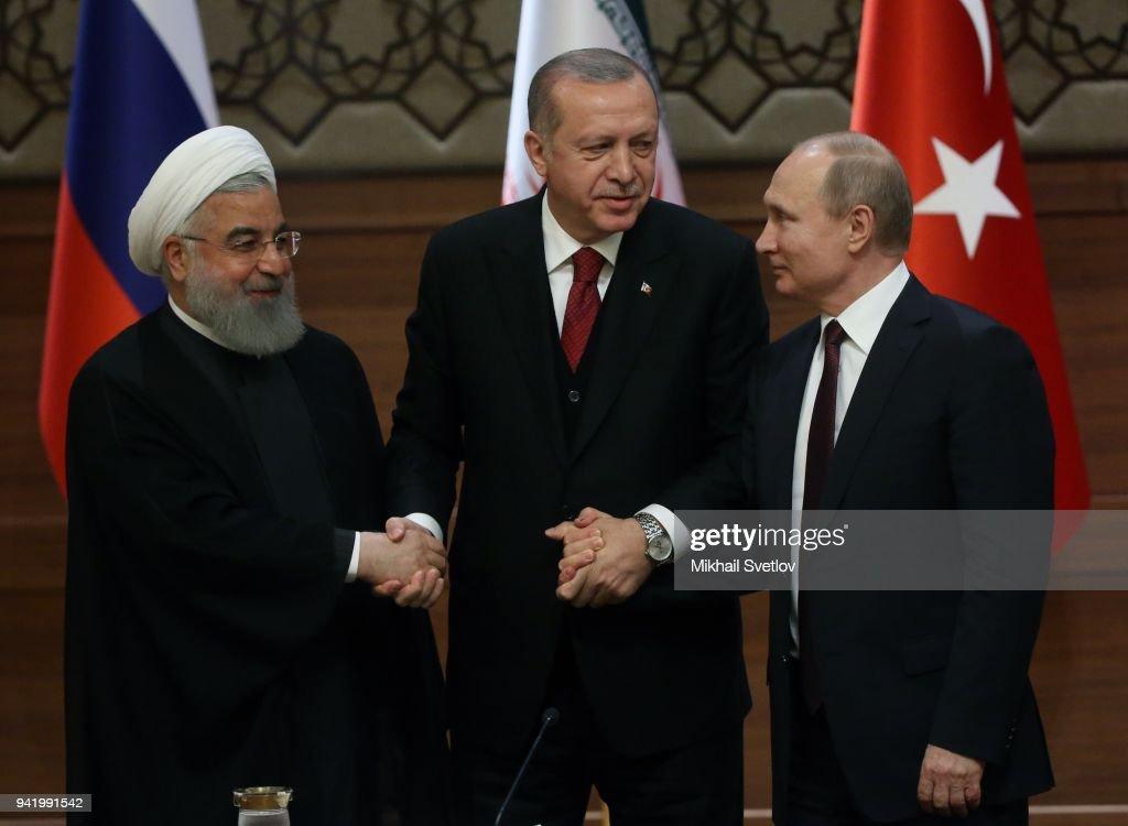 Presidents of Russia, Turkey and Iran meet in Ankara : News Photo