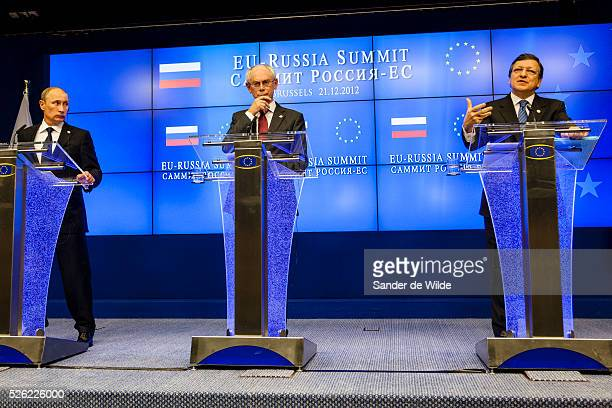 Russian President Vladimir Putin visits the European Council at an European UnionRussia summit in Brussels December 21 2012 in this picture Vladimir...