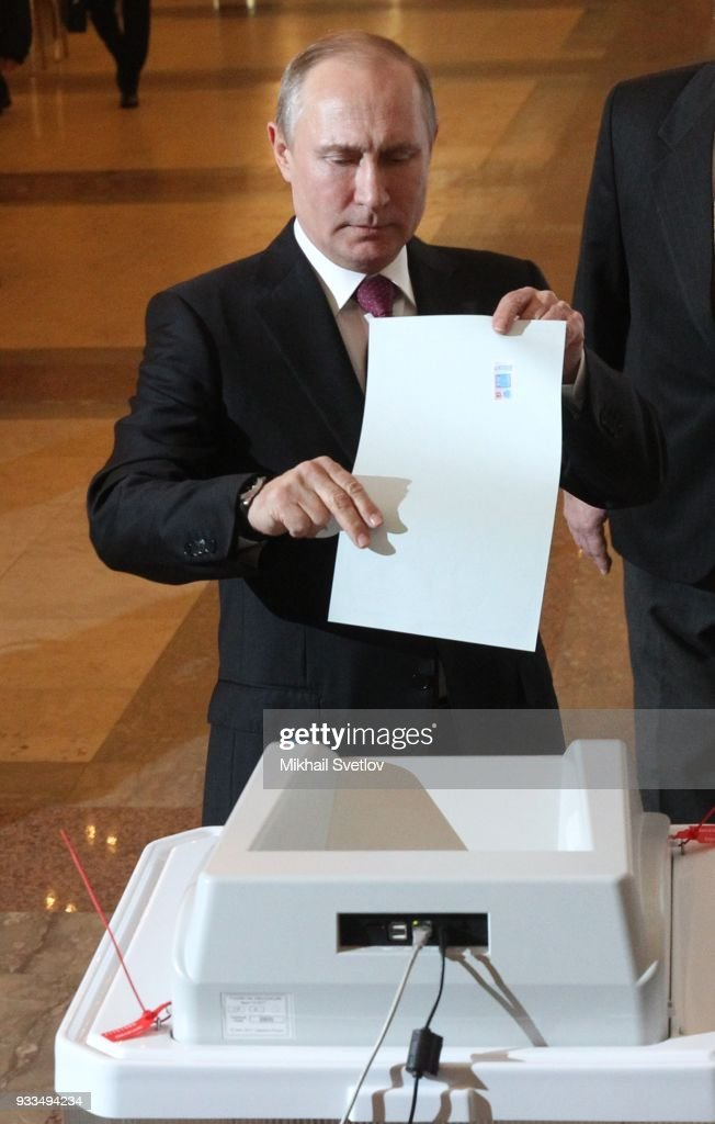Russians Go To The Polls For The Presidential Election
