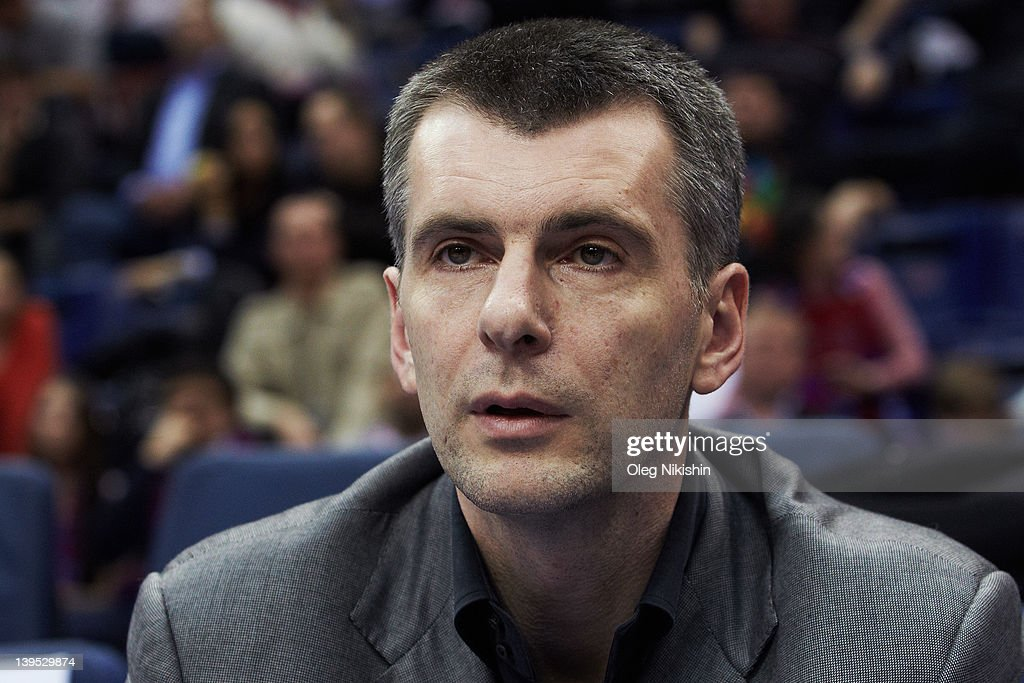 Russian Presidential Candidate Mikhail Prokhorov... : News Photo
