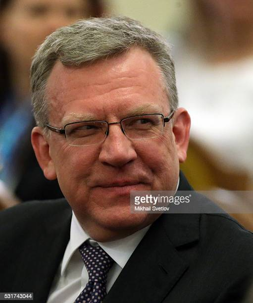 Russian Presidential Economic Council Head Alexei Kudrin attends the Moscow Easter Festival at Moscow Chaikovsky Conservatory on May 16 2016 in...