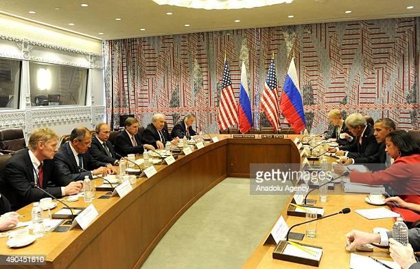 Russian Presidential Spokesman Dmitry Peskov, Russia's Foreign Minister Sergei Lavrov, Russia's President Vladimir Putin, Russian Presidential Aide...