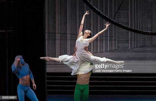 Russian prima ballerina Diana Vishneva dances the title role with Andrey Solovyov as 'Winter' in the Mariinsky Ballet production of Sergei...