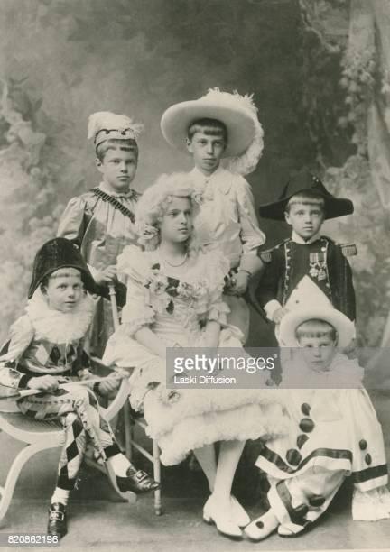 Russian Princes Andrei Feodor Nikita Dmitry Rostislav and Princess Irina children of Grand Duchess Xenia Alexandrovna of Russia and Grand Duke...