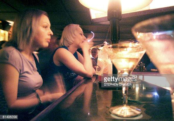 Russian Prostitutes Sit At A Trendy Bar In Bangkok November Picture Id S X