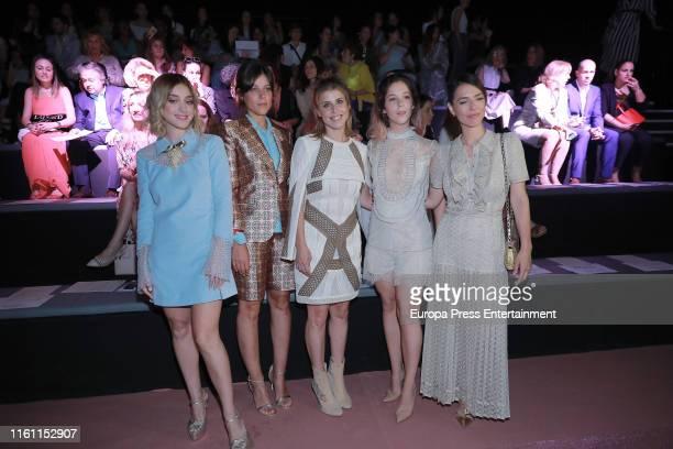 Russian Red Iria del Rio Ruth Llopis Georgina Amoros and Cristina Berondo attend Teresa Helbig fashion show during the Mercedes Benz Fashion Week...