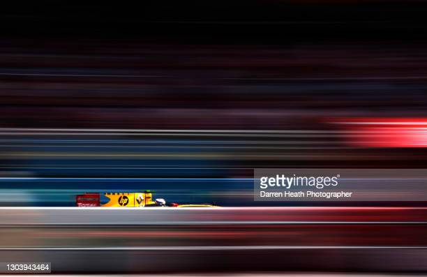 Russian Renault Formula One driver Vitaly Petrov driving his R30 racing car during practice for the 2010 Spanish Grand Prix, Circuit de...