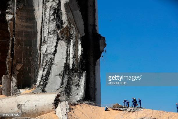 Russian rescue teams search for survivors at Beirut port on August 7 three days after a massive blast there shook the Lebanese capital. - Rescuers...