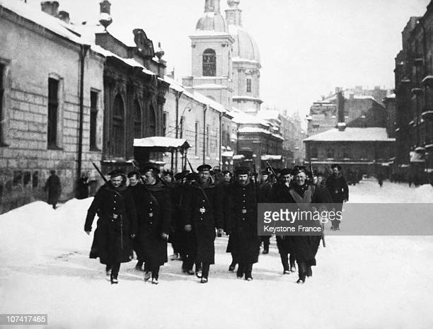 Russian Revolution In Saint Petersburg On 1917