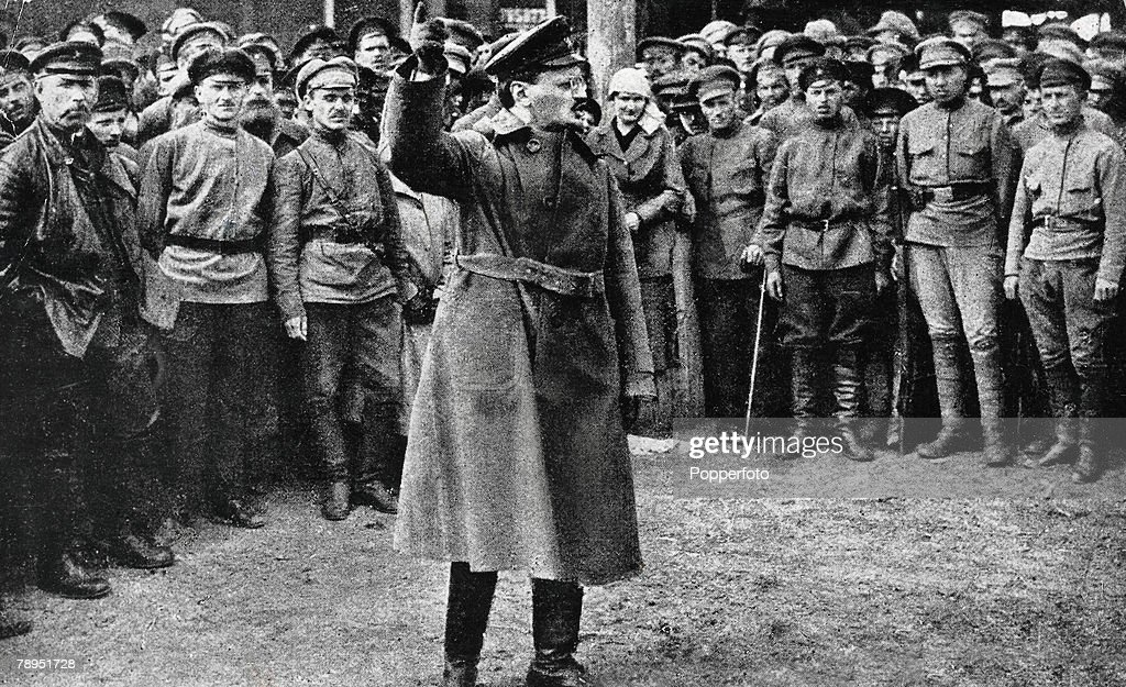 Russian Revolutionary and Communist Theorist Leon Trotsky : News Photo