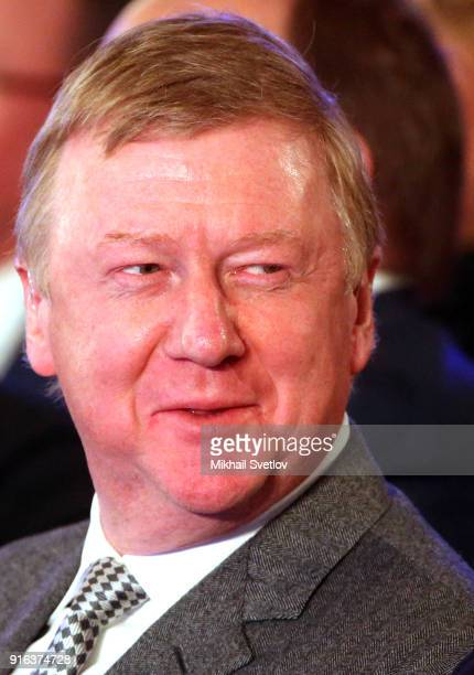 Russian Rosnano State Corporation Chairman Anatoly Chubais attends the Congress of Russian Union of Industrialists and Entrepreneurs at the Ritz...