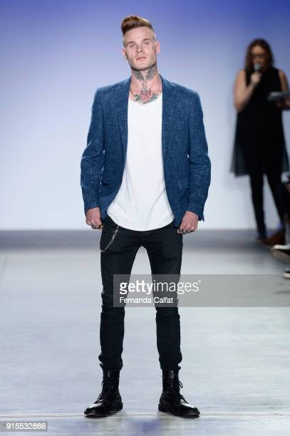 Russian Roulette walks the runway at the Blue Jacket Fashion Show to benefit the Prostate Cancer Foundation on February 7 2018 in New York City