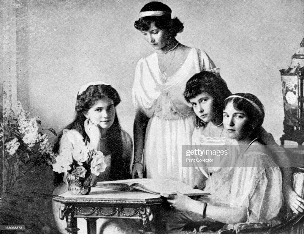 'Russian Royal ladies, Tsarkoe Military Hospital', 1914. : News Photo