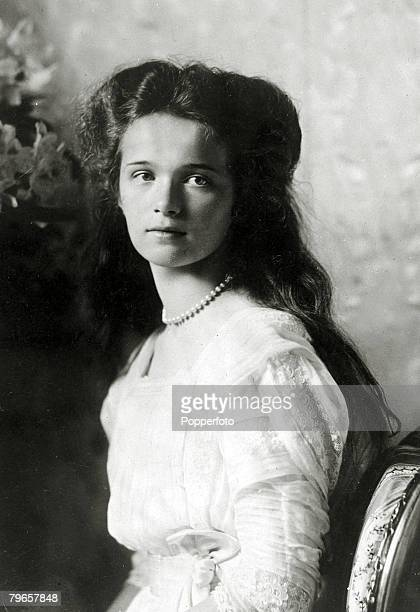 circa 1910 Grand Duchess Olga 18951918 the eldest daughter of Tsar Nicholas II