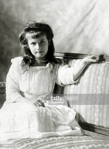 circa 1910 The Grand Duchess Anastasia 19011918 the youngest daughter of The Tsar Nicholas II and Empress Alexandra