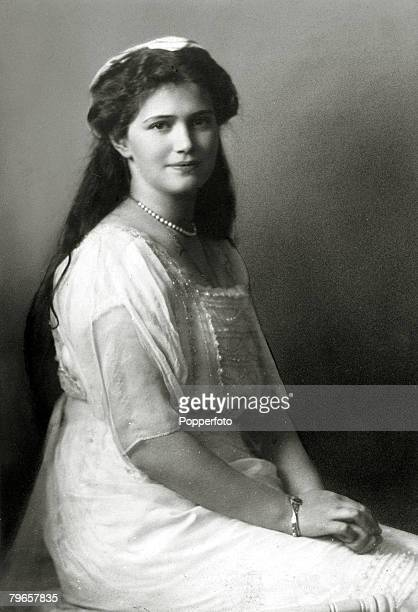 circa 1915 The Grand Duchess Maria 18991918 the 3rd daughter of The Tsar Nicholas II and Empress Alexandra