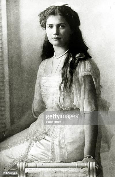 circa 1915 The Grand Duchess Maria the 3rd daughter of Tsar Nicholas II