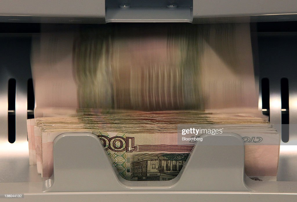Russian Ruble Notes Are Seen In A Counting Machine At An OAO Sberbank  Currency Exchange In