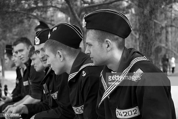 russian sailors - russian military stock pictures, royalty-free photos & images
