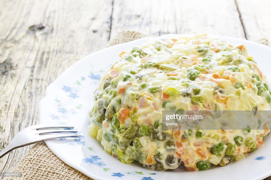 Russian salad : Stock Photo