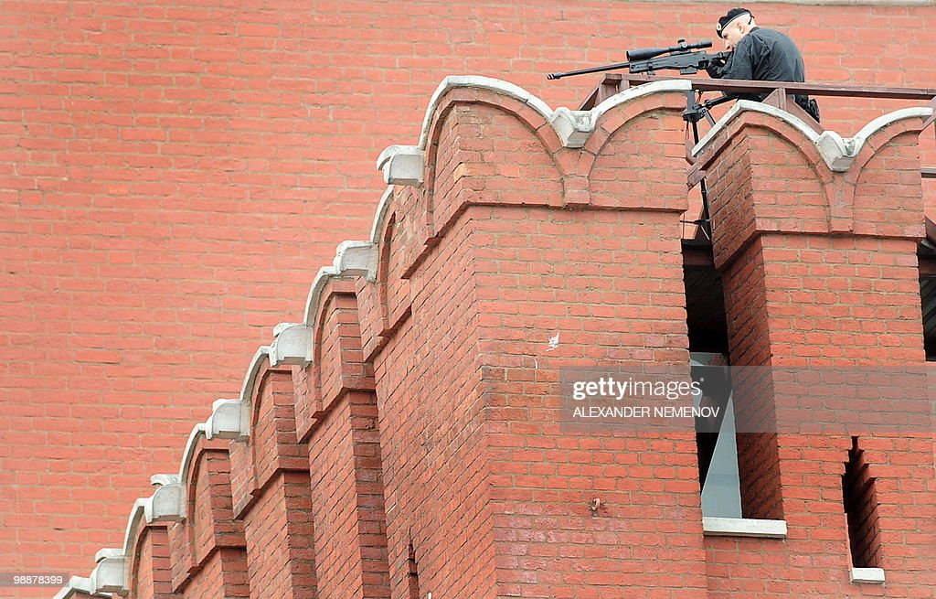 A Russian Security Services sniper keeps : News Photo