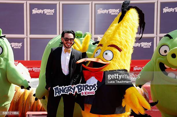 Russian singer Timur Rodriguez attends The Angry Birds Movie Photocall during the annual 69th Cannes Film Festival at JW Marriott on May 10 2016 in...