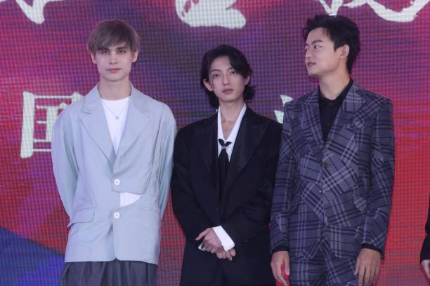 CHN: Singer Vladislav Ivanov And Zhao Tianyu Attend Movie Press Conference In Shanghai