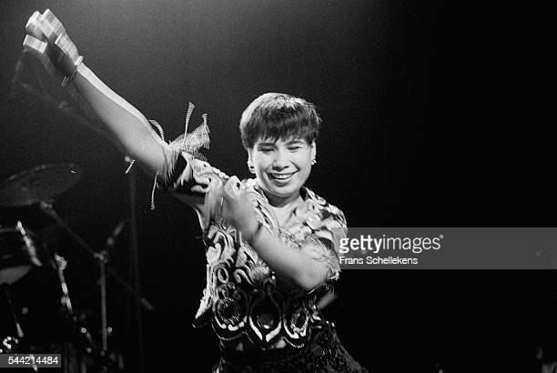 Russian singer Yulduz Usmanova performs on June 23rd 1996 at the Melkweg in Amsterdam, the Netherlands.