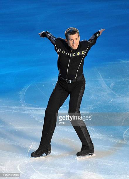 Russian skater Alexei Yagudin performs at Artistry On Ice at Capital Indoor Stadium on July 16 2011 in Beijing China