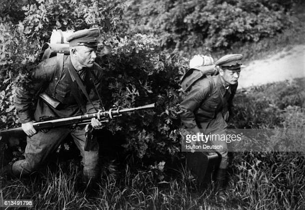Russian Snipers Continue Their Work Of Harassing The Retreating Germans