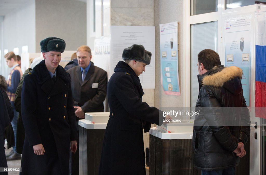 Russians Head To The Polls During Presidential Elections