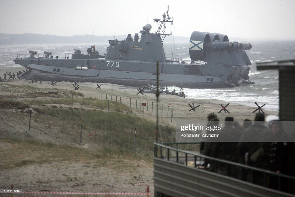 President Medvedev Observes Russian Baltic Fleet : News Photo
