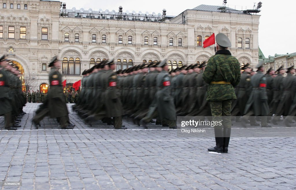 Russian Military Rehearses For Parade To Commemorate End Of WWII : News Photo