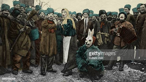 Russian Soldiers Masquerade Party during World War 1 Troops in Salonica Salonica known as Thessaloniki Greece Macedonian Front/ the Salonika Front...