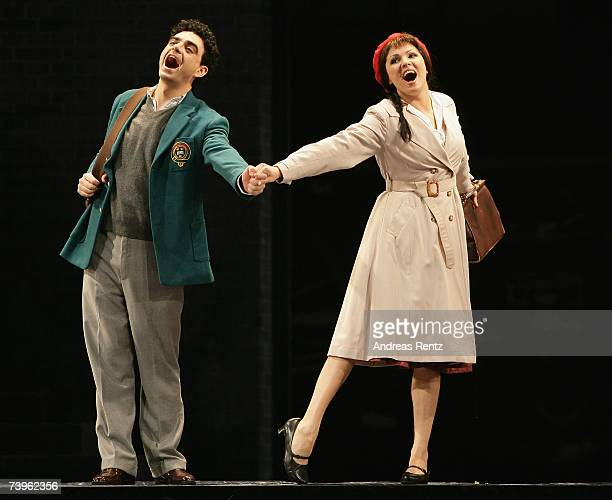 Russian soprano Anna Netrebko as 'Manon Lescaut' and Mexican tenor Rolando Villazon perform during a dress rehearsal of a production of Jules...
