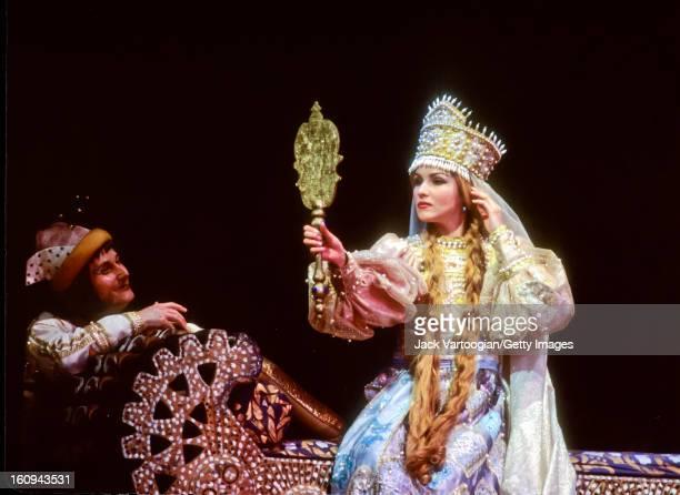 Russian soprano Anna Netrebko during the final dress rehearsal for the Kirov Opera production of Mikhail Glinka's 'Ruslan i Lyudmila' Metropolitan...