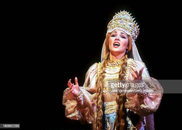 Russian soprano Anna Netrebko during the final dress rehearsal for the Kirov Opera production of Mikhail Glinka's 'Ruslan i Lyudmila' Metropolitan...