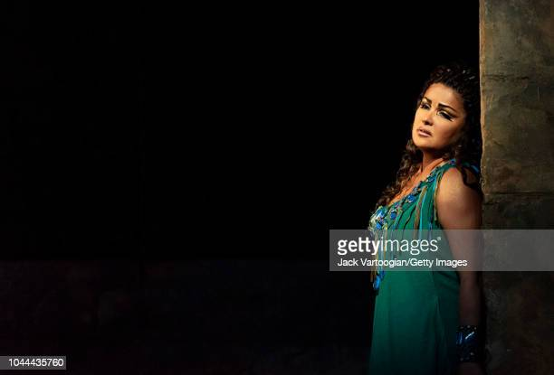 Russian soprano Anna Netrebko performs at the final dress rehearsal prior to the season revival of the Metropolitan Opera/Sonja Frisell production of...